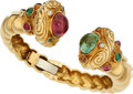Estate Jewelry:Bracelets, Multi-Stone, Diamond, Gold Bracelet . ...