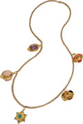 Estate Jewelry:Necklaces, Multi-Stone, Gold Necklace . ...