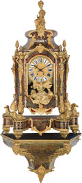 Clocks & Mechanical:Clocks, A Monumental Louis XVI-Style Lacquered Boulle and Gilt Bronze Backet Clock, late 19th century. Marks to mechanism: AD MOUG... (Total: 2 Items)