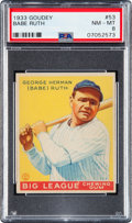 Baseball Cards:Singles (1930-1939), 1933 Goudey Babe Ruth #53 PSA NM-MT 8 - Only One Higher....