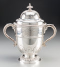 Silver Holloware, British:Holloware, A Charles & Richard Comyns Sterling Silver Lidded BrooklandsAutomobile Racing Cup: The Brooklands 28th Lightning Long H...(Total: 2 Items)