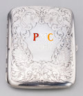 Silver Smalls:Cigarette Cases, A Blackinton Silver Pasadena Motorcycle Club Cigarette Case, NorthAttleboro, Massachusetts, early 20th century. Marks: ST...