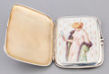 Silver Smalls:Cigarette Cases, A German or Swiss Silver and Enameled Erotic Cigarette Case, early20th century. Marks: 935, (logotype). 3-5/8 inches hi...