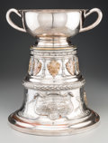 Silver Holloware, American:Other , A Large Silver-Plated and Bronze 1910-1931 Borough of BrooklynLacrosse Championship Trophy. 16-3/8 inches high x 13-1/4 inc...