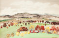 Works on Paper, Adolf Arthur Dehn (American, 1895-1968). Landscape in Fall. Watercolor on paper. 13-1/2 x 20-1/2 inches (34.3 x 52.1 cm)...