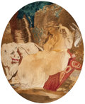 Decorative Arts, Continental:Other , A Continental Framed Embroidery, late 18th-19th ce...