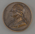 Decorative Arts, French, A French Bronze Portrait Medal of Balloonist Jacques-EtienneMontgolfier designed by Armand-Auguste Caqué, circa 1821. 3...