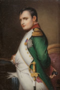 Ceramics & Porcelain, A Framed German Porcelain Plaque: Napoleon I, late 19th-early 20th century. 5-3/4 inches high x 3-7/8 inches wid...