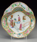Asian:Chinese, A Chinese Export Rose Medallion Porcelain Quatrefoil Serving Plate.10-1/2 inches long x 9-3/4 inches wide (26.7 x 24.8 cm)...
