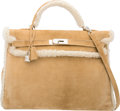 Luxury Accessories:Bags, Hermes Limited Edition 40cm Alezan Veau Doblis Suede & Mou...