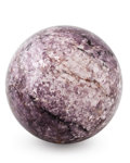 Lapidary Art:Eggs and Spheres, Lepidolite Sphere. Alto Ligonha District. ZambeziaProvince. Mozambique. 4.50 inches (11.43 cm) indiameter...