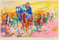 Prints & Multiples, LeRoy Neiman (American, 1921-2012). Shootout on the Wagontrain. Screenprint in colors. 17-3/4 x 27-3/4 inches (45.1 x 70...