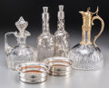 Silver Holloware, Continental, Six Silver Overlay, Silver-Plated, and Glass Barwares, early 20thcentury and later. Marks: (various). 11-5/8 inches high (2...(Total: 6 Items)