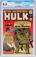 Silver Age (1956-1969):Superhero, The Incredible Hulk #6 (Marvel, 1963) CGC FN+ 6.5 Off-white to white pages....