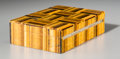 Other, A Tiger's Eye Veneered Table Box, 20th century. 1-5/8 h x 6-1/4 w x 4-1/4 d inches (4.1 x 15.9 x 10.8 cm). ...