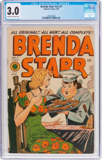 Brenda Starr V2#7 (Superior Comics, 1949) CGC GD/VG 3.0 Cream to off-white pages