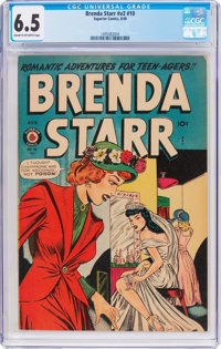 Brenda Starr V2#10 (Superior Comics, 1949) CGC FN+ 6.5 Cream to off-white pages