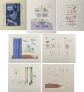 Prints:Contemporary, David Hockney (b. 1937). The Blue Guitar (seven works),1976-77. Etchings with aquatint in colors on I...