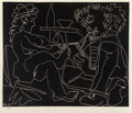 Fine Art - Work on Paper:Print, Pablo Picasso (1881-1973). Le peintre et son modèle, 1965.Linocut on wove paper. 20-3/4 x 25 inches (52.7 x 63.5 cm) (i...