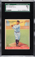 Baseball Cards:Singles (1930-1939), 1933 Goudey Babe Ruth #144 SGC 84 NM 7....