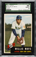 Baseball Cards:Singles (1950-1959), 1953 Topps Willie Mays #244 SGC 88 NM/MT 8....
