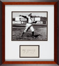 Baseball Collectibles:Others, Circa 1950 Cy Young Signed Cut Signature....