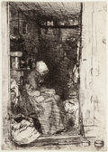 Fine Art - Work on Paper:Print, James Abbott McNeill Whistler (American, 1834-1903). La Vielleaux Loques, From Twelve Etchings from Nature, 1818. Etchi...