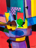 Post-War & Contemporary, Marcel Mouly (French, 1918-2008). L'Echiquier Rose et Vert,2000. Acrylic on canvas. 32 x 23-1/2 inches (81.3 x 59.7 cm)...