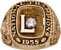Football Collectibles:Others, 1958 LSU Tigers National Champions Salesman Sample Ring....
