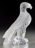 Art Glass:Lalique, A Lalique Clear and Frosted Glass Liberty Eagle Figure,post-1945. Marks: Lalique, France. 9-3/8 inches high...