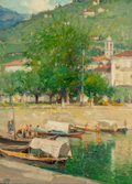 Fine Art - Painting, American:Modern  (1900 1949)  , Oliver Dennett Grover (American, 1861-1927). Lucerne, 1908.Oil on board. 14 x 10 inches (35.6 x 25.4 cm). Initialed, da...