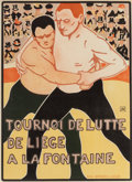 Fine Art - Work on Paper:Print, Attributed to Armand Rassenfosse (Belgian, 1862-1934). Untitled(from Les Maitre de L'Affiche), pl. 224. Lithograph in c...