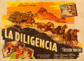 "Movie Posters:Western, Stagecoach (Transoceans Films, R-1944). Argentinean Two Sheet(54.5"" X 39.25"").. ..."