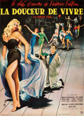 "Movie Posters:Foreign, La Dolce Vita (Consortium Pathe, 1960). Full-Bleed French Grande(46"" X 62.25"") Yves Thos Artwork.. ..."