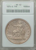 Trade Dollars: , 1874-S T$1 MS62 ANACS. NGC Census: (83/47). PCGS Population: (84/96). CDN: $1,050 Whsle. Bid for problem-free NGC/PCGS MS62...