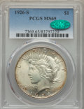 Peace Dollars: , 1926-S $1 MS65 PCGS. CAC. PCGS Population: (742/91). NGC Census:(366/31). CDN: $825 Whsle. Bid for problem-free NGC/PCGS M...