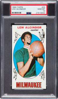 1969 Topps Lew Alcindor #25 PSA Gem Mint 10 - Pop Two