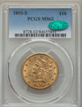 Liberty Eagles: , 1893-S $10 MS62 PCGS. CAC. PCGS Population: (191/75). NGC Census: (149/22). CDN: $700 Whsle. Bid for problem-free NGC/PCGS ...