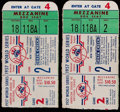 Baseball Collectibles:Tickets, 1957 World Series Game Two Ticket Stubs (2)....