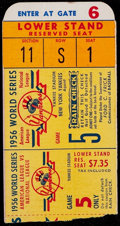 Baseball Collectibles:Tickets, 1956 World Series Game Five Ticket Stub - Don Larsen's PerfectGame. ...