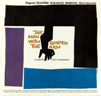 "The Man with the Golden Arm (United Artists, 1955). Six Sheet (81"" X 81"") Saul Bass Artwork"