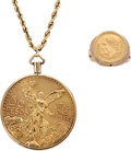 Estate Jewelry:Suites, Gold Coin, Gold Jewelry . ... (Total: 2 Items)