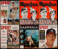 Autographs:Others, Warren Spahn Signed Vintage Magazine Collection (6). ...