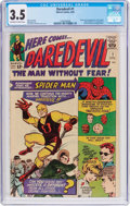 Silver Age (1956-1969):Superhero, Daredevil #1 (Marvel, 1964) CGC VG- 3.5 Off-white to whitepages....