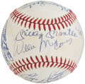 Autographs:Baseballs, Hall of Fame Multi-Signed Baseball (17 Signatures). ...