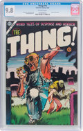 Golden Age (1938-1955):Horror, The Thing! #16 (Charlton, 1954) CGC NM/MT 9.8 Off-white pages....
