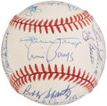 Autographs:Baseballs, Baseball Greats Multi-Signed Baseball....