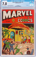 Golden Age (1938-1955):Superhero, Marvel Mystery Comics #37 (Timely, 1942) CGC FN/VF 7.0 Cream to off-white pages....