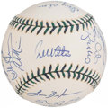 Autographs:Baseballs, 2001 National League All-Star Team Signed Baseball. ...