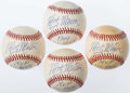 Autographs:Baseballs, Marty Marion Signed & Inscribed Baseballs Lot of 4....